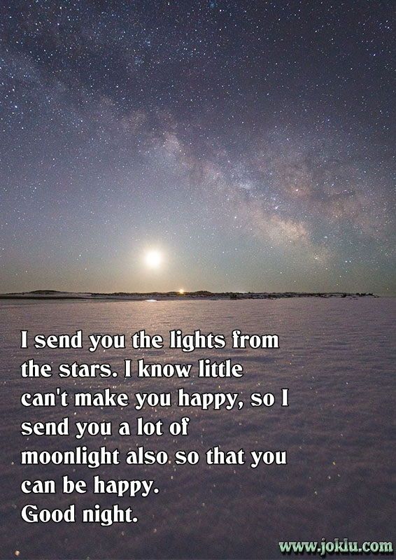 Moonlight for you good night message in English