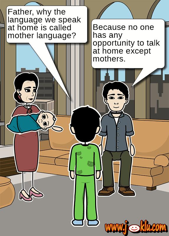 Mother tongue joke in English