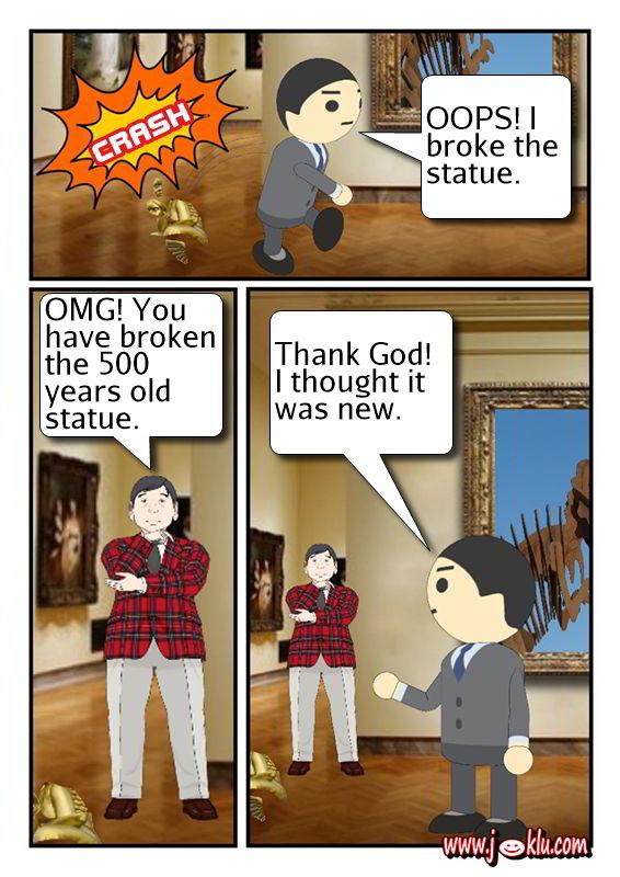 Museum visit joke in English