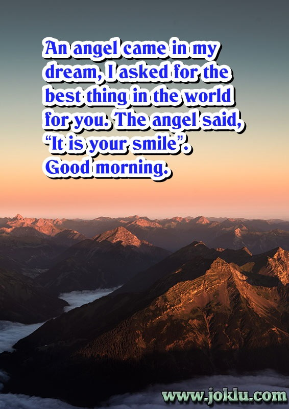 My dream good morning message