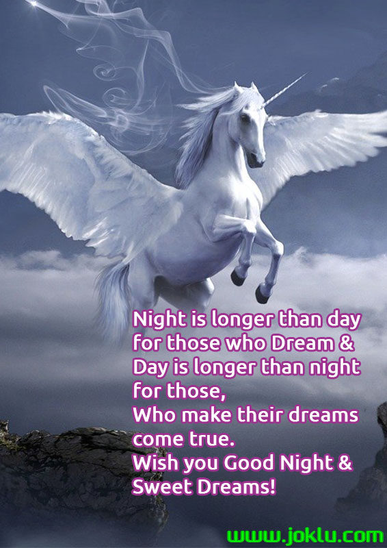 Night is longer than day good night message in English
