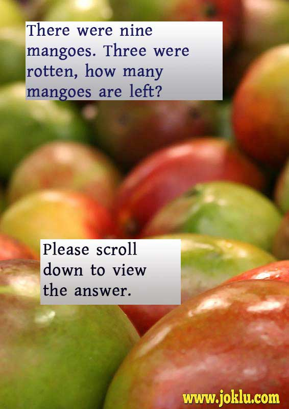 Nine mangoes riddle in English