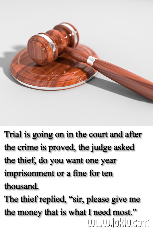 Offers by judge short joke in English