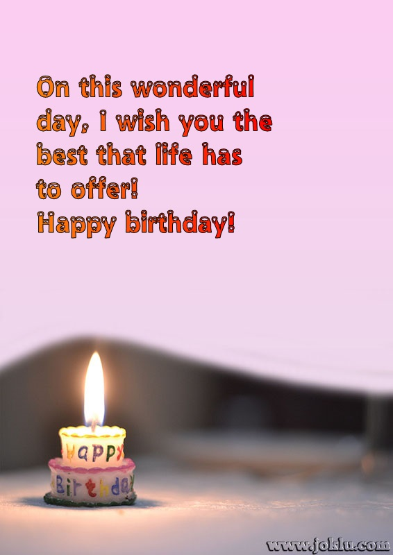 On this wonderful day birthday message in English