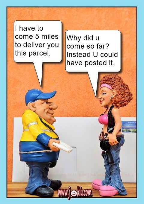 Postman delivered a parcel joke