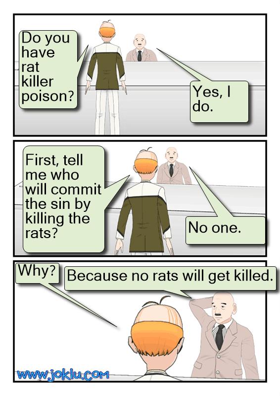 Rat poison joke in English