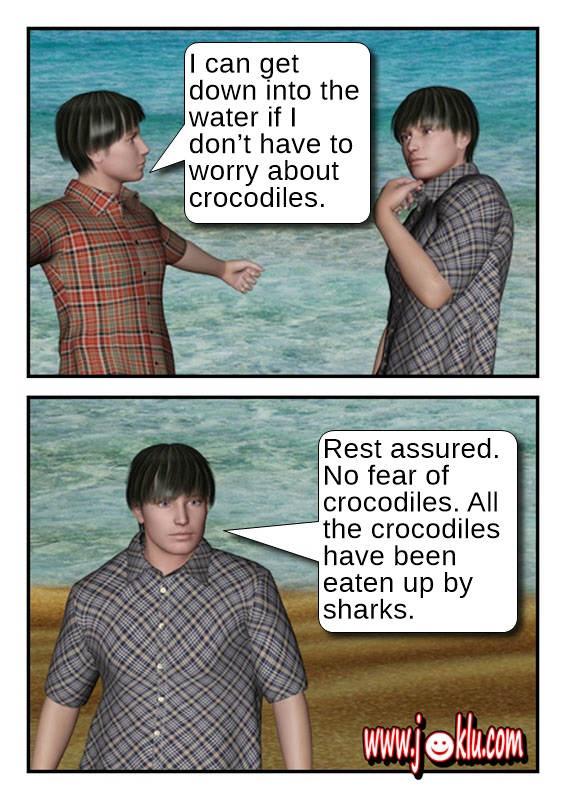Safe water joke in English