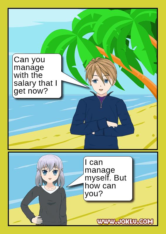 Salary joke in English