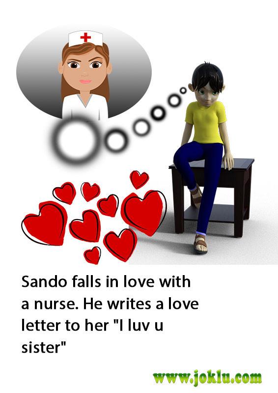 Sando falls in love short joke in English