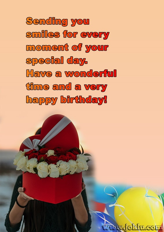 Sending you smile happy birthday message in English
