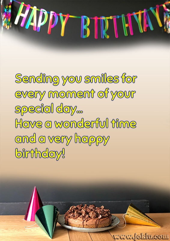 Sending you smiles birthday message in English