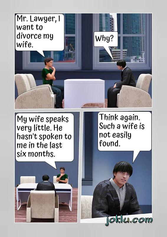 Silent wife joke
