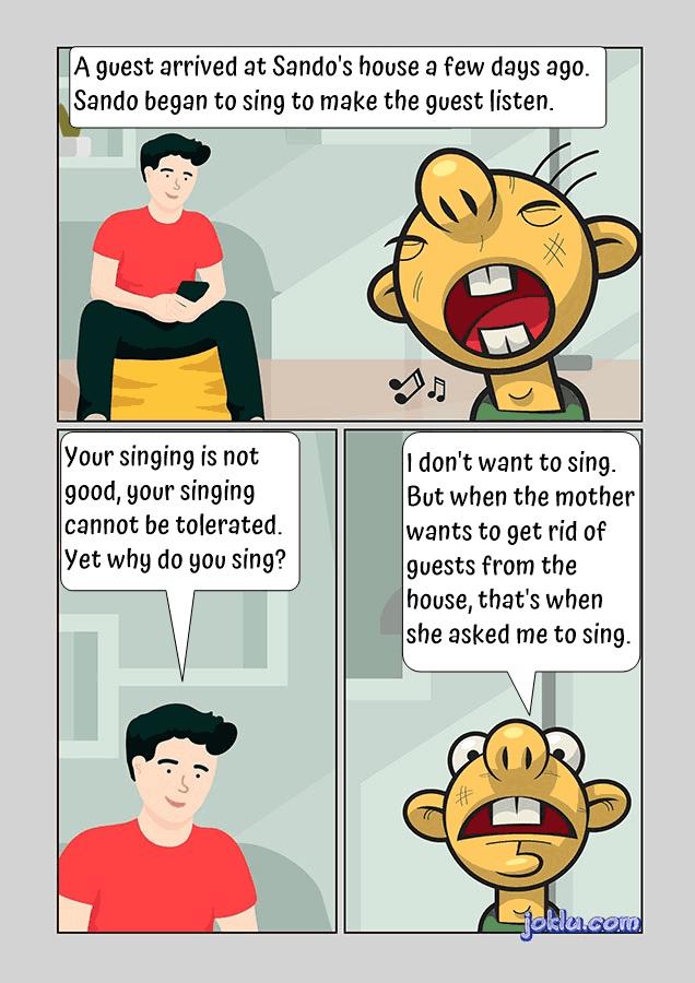 Singer vs guest joke