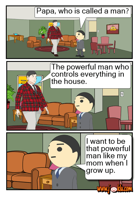 Strongman joke in English