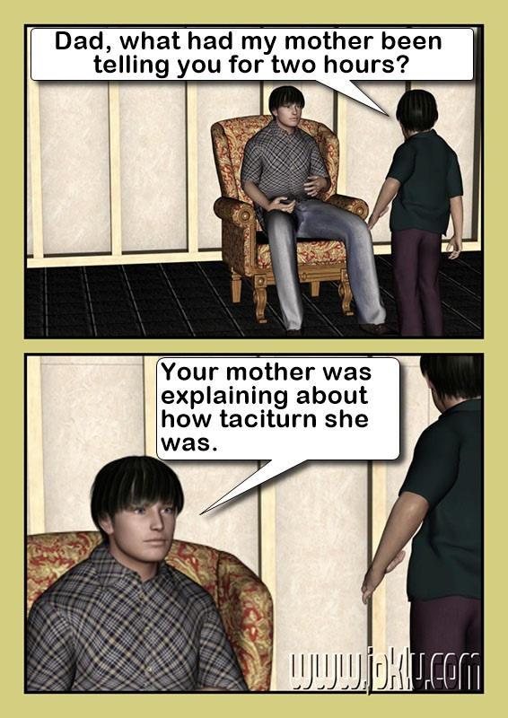 Talk a little bit joke in English