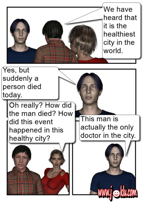 The healthiest town joke