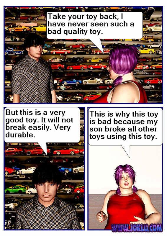 Unbreakable toy joke in English
