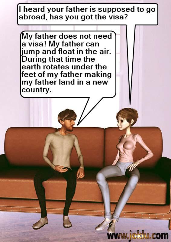 Visa incredible dad joke in English